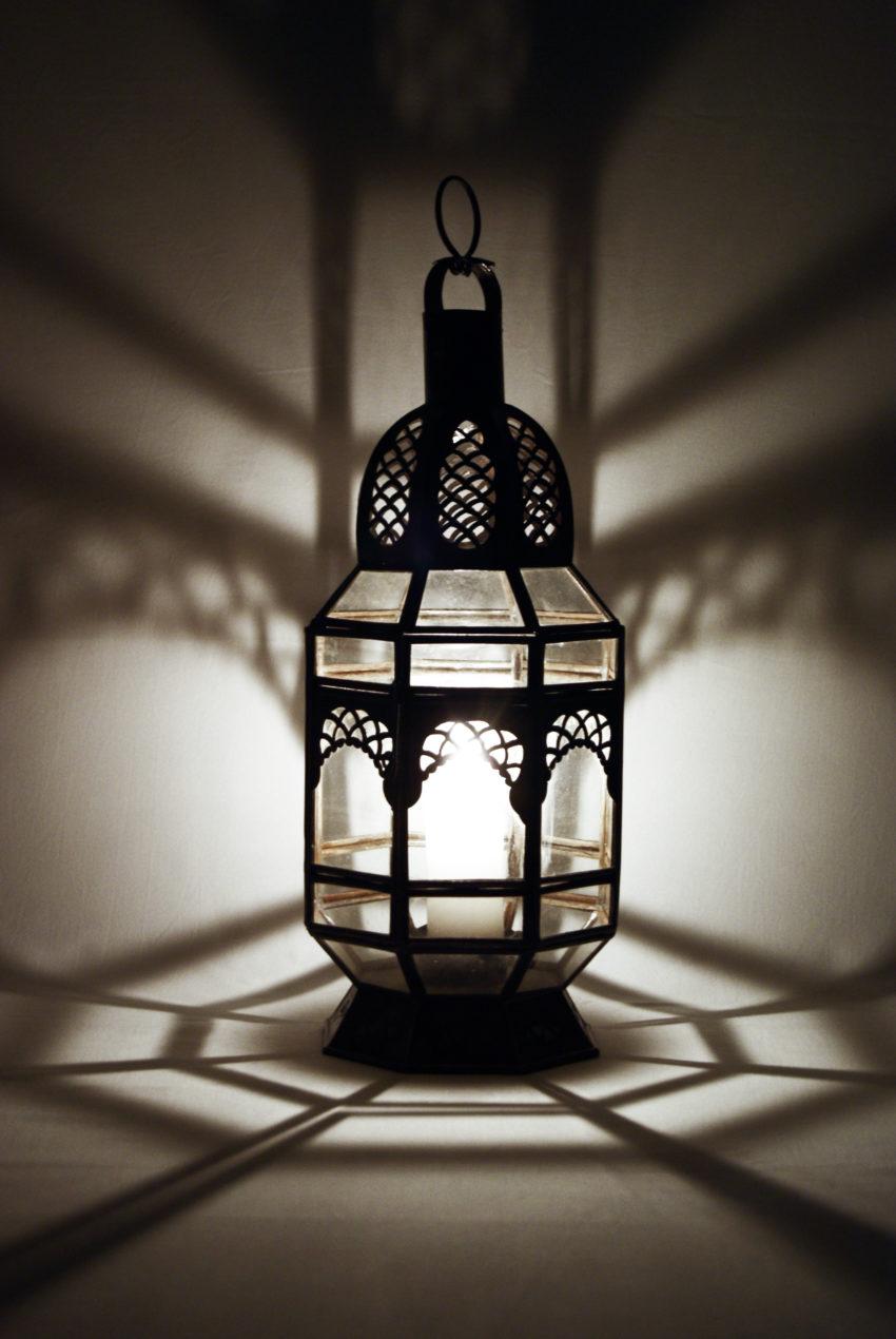 Orientalische Glas-Laterne / Badra