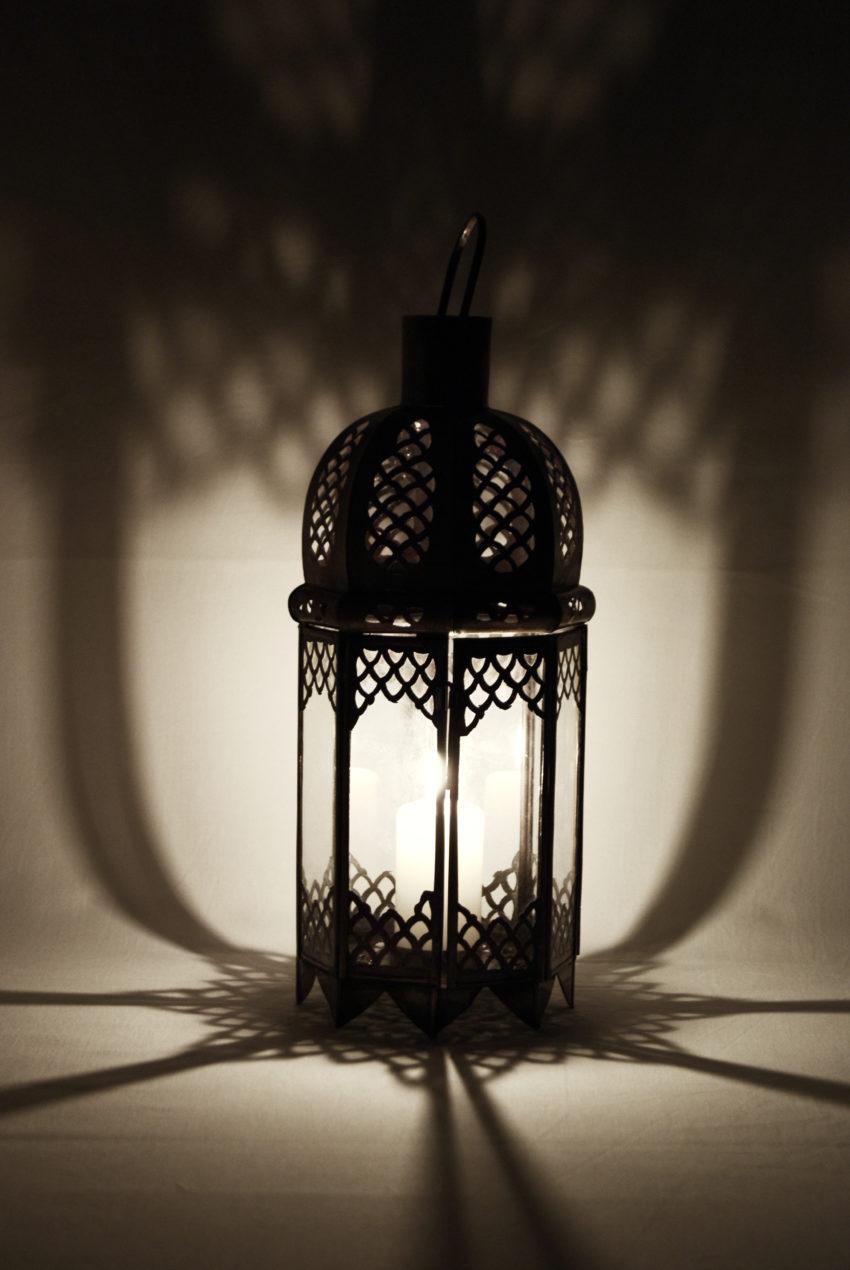 Orientalische Glas-Laterne / Lana