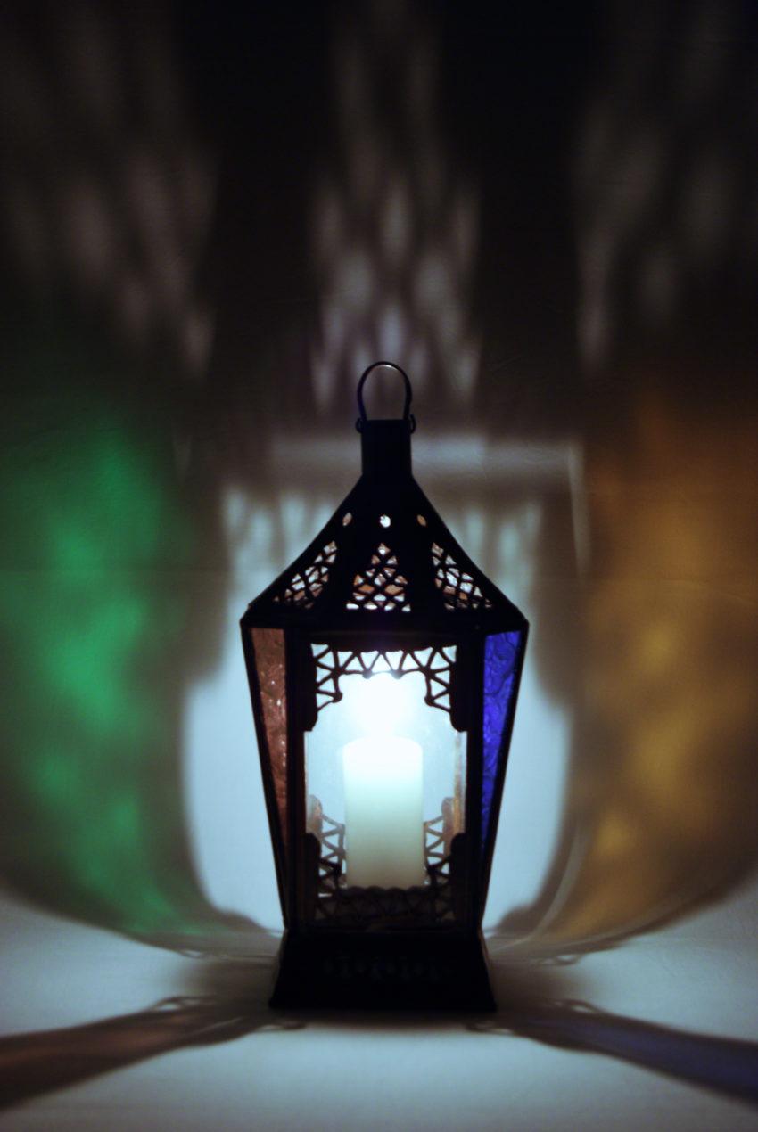 Orientalische Glas-Laterne / Raha