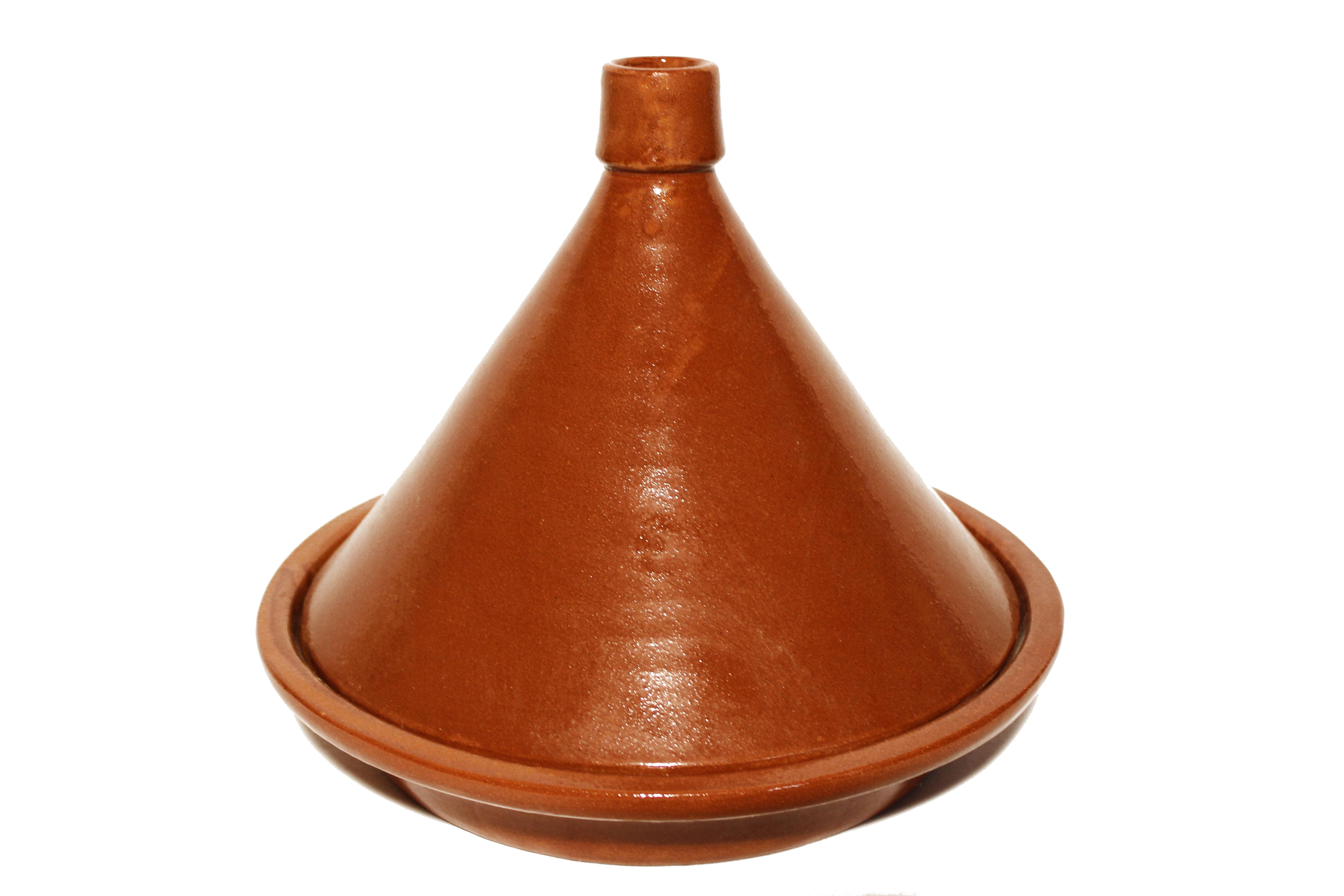 Die traditionellen Tajine werden in Marokko hergestellt. Marokkanische tajine erhältlich bei El-Fesi / Oriental Art Decor.