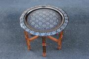 Orientalischer Teetisch Rabat : Erhältlich im Onlineshop von El-Fesi/Oriental Art Decor - Orientalisches Teezubehör.