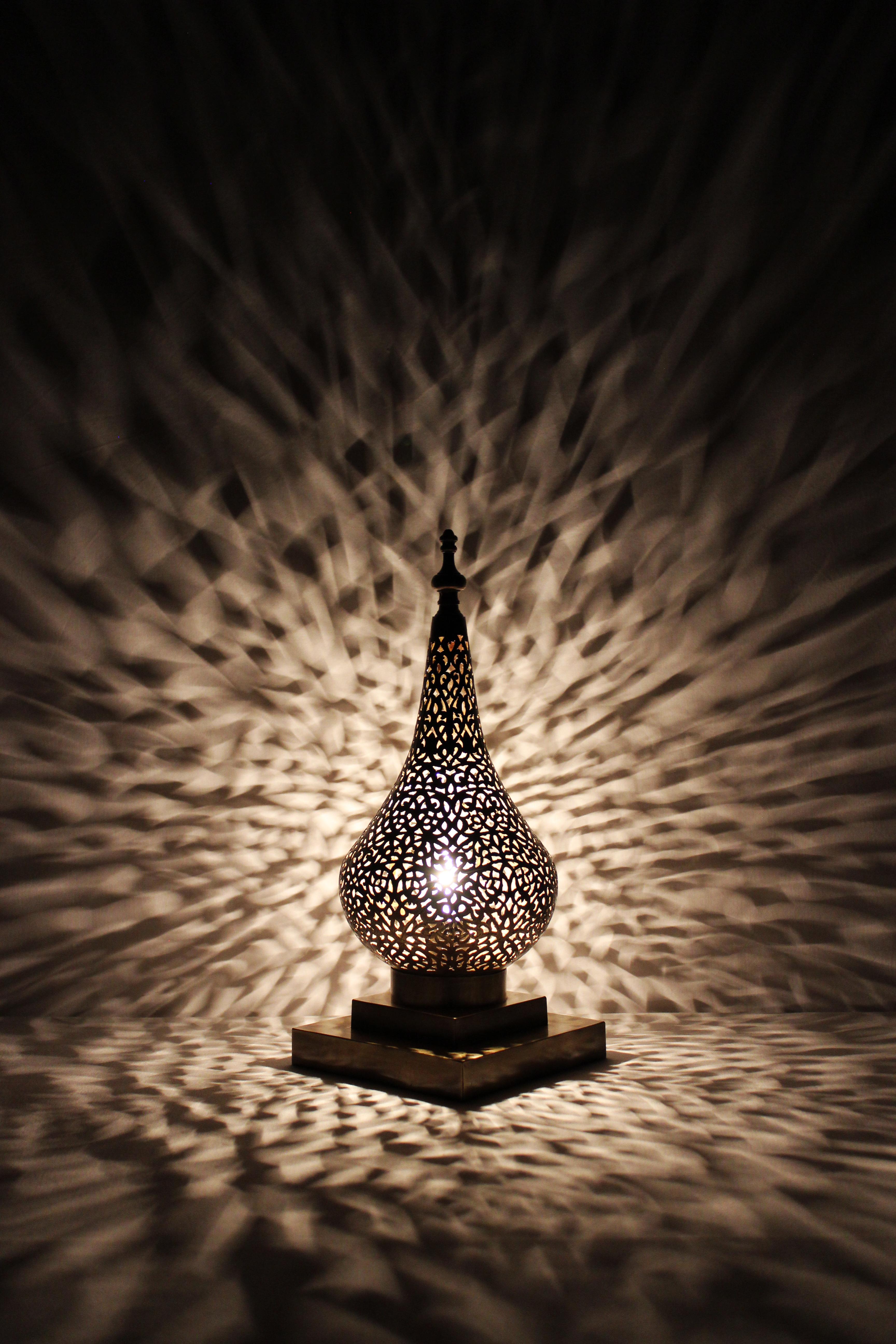 El fesi orientalisches deko arabische tischlampe yemina for Marokkanische tischlampe