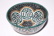 Die orientalische Schüssel Leandra aus Steingut eignet sich für jede Küche. Orientalisches Geschirr von El-Fesi / Oriental Art Decor.