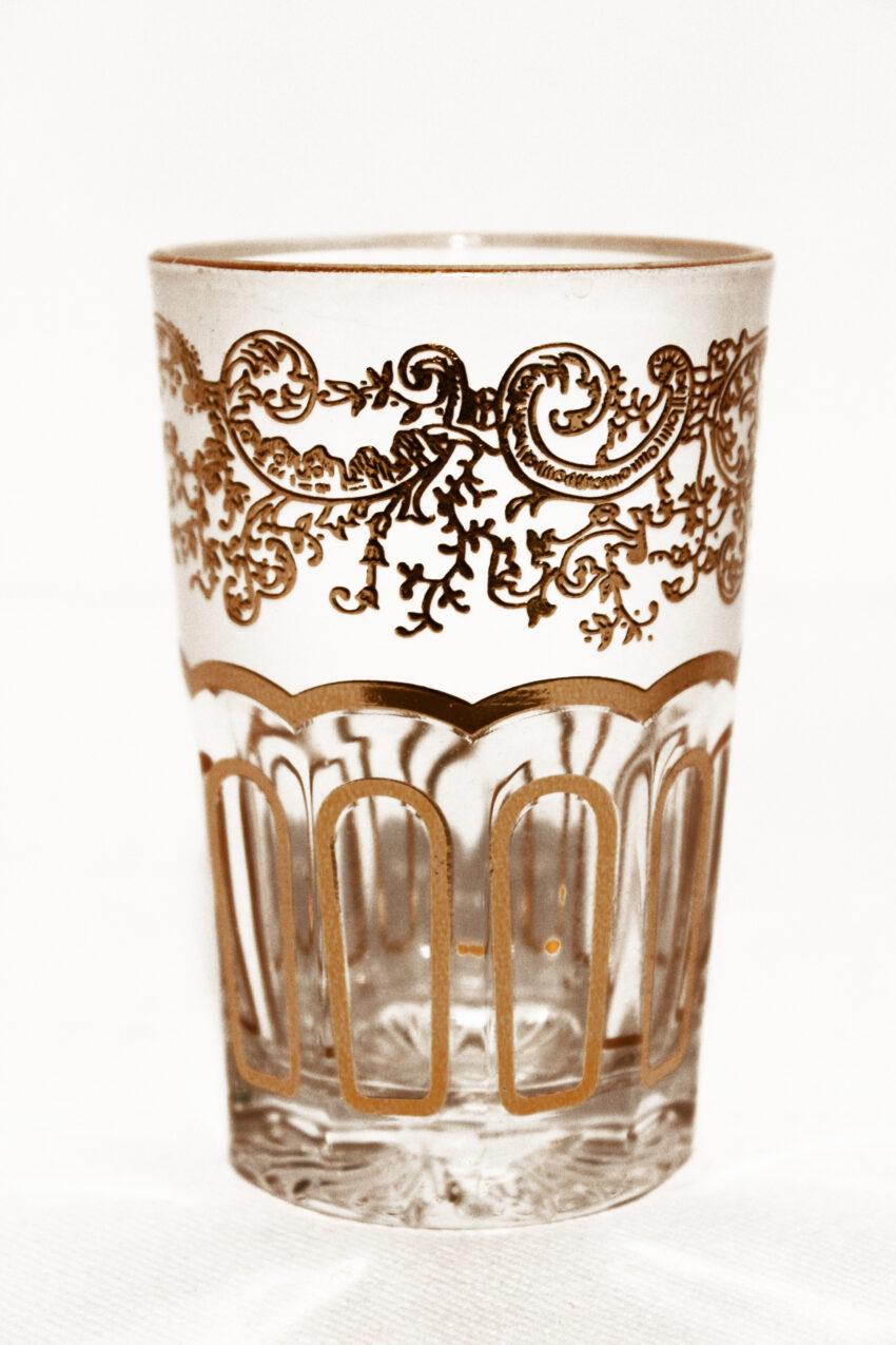 Orient Teeglas Bohemia weiss: Erhältlich im Onlineshop von El-Fesi/Oriental Art Decor - Orientalisches Teezubehör.